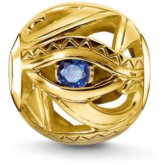 Thomas Sabo Women Men-Bead Eye of Horus Karma Beads 925 Sterling Silver 18k yellow gold plating blue K0229-922-32