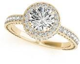 Ice 1 1/2 CT TW 14K Yellow Gold 1 1/2 CT TW Diamond Duo-Halo Engagement Ring