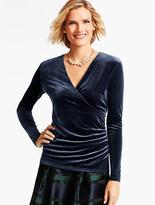 Talbots Velour Ruched-Wrap Top