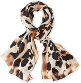 Vince Camuto Blurred Cheetah Silk Scarf