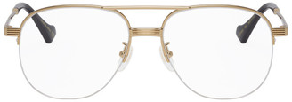 Gucci Gold Aviator Glasses