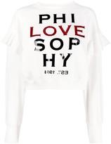 Philosophy di Lorenzo Serafini ruffle shoulder logo jumper