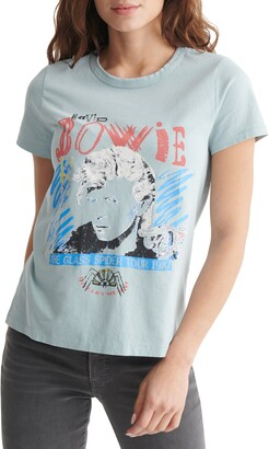 Lucky Brand Bowie 1987 Tour Cotton Graphic Tee