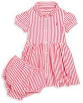 Ralph Lauren Baby's Two-Piece Striped Shirtdress & Bloomers Set