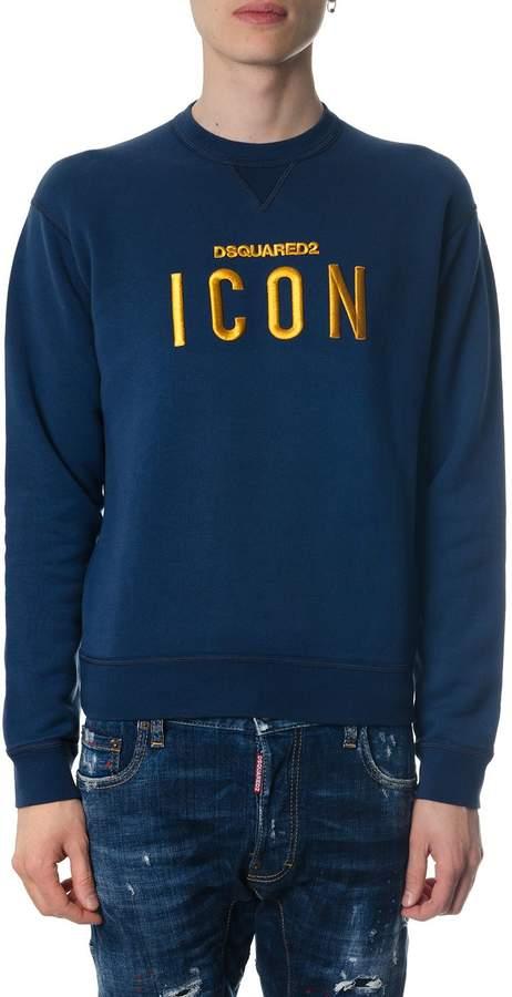 DSQUARED2 Icon Blue Cotton Sweatshirt