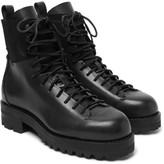 Feit Military Suede-panelled Leather Boots - Black