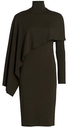 Halston Layla Drape Overlay Sheath Dress