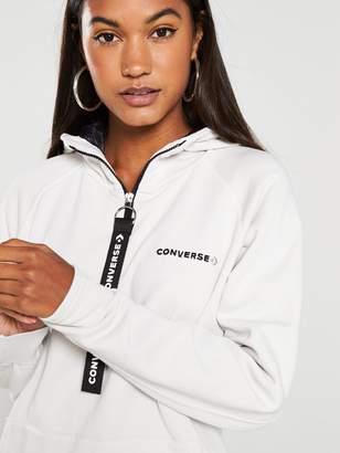 Converse Fleece Hood Dress Zip-Puller - Beige