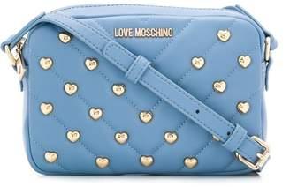 Love Moschino Heart Studded Crossbody Bag
