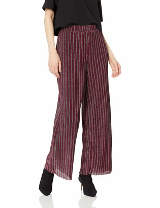 ECI New York Women's Glitter Knit Pleated Flare Pants