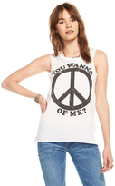 Chaser Peace of Me Tee in White