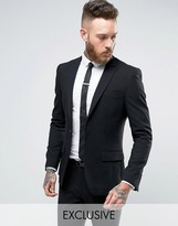 ONLY & SONS Super Skinny Suit Jacket In Black