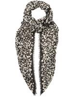 Saint Laurent Heart-print fine-knit wool scarf