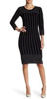 Taylor Ribbed Knit Sheath Dress