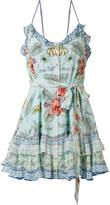 Camilla Rio Crystal-embellished Printed Washed-silk Mini Dress