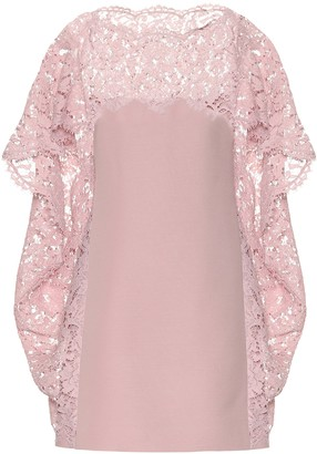 Valentino lace-trimmed minidress