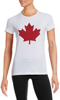 Canadian Olympic Team Collection Womens Twill Maple Leaf T-Shirt
