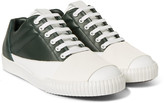 Marni - Rubber-panelled Leather Sneakers
