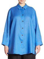 Caroline Rose Collared Linen Tunic