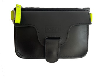 Kartu Studio Natural Leather Mini Cross Body Marigold - Black/Green Neon Detail