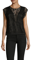 L'Agence Mila Lace Cropped Camisole Top