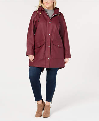 Levi's Trendy Plus Size Hooded Rain Parka Jacket