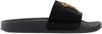 Giuseppe Zanotti Brett lizard-effect leather slides