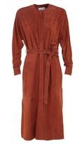 Tibi Featherweight Suede Dress