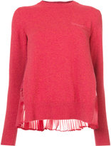Sacai plissé rear pleat sweater