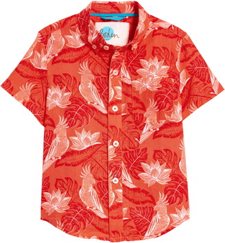 Boden Vacation Short Sleeve Button-Down Shirt