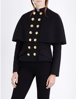 Burberry Military cape-style wool-blend jacket
