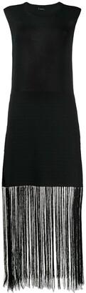 Joseph Darya Crispy fringe-trimmed dress