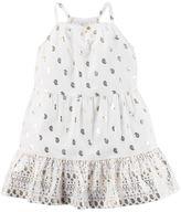 Carter's Baby Girl Foil Paisley Printed Dress