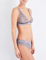 Palindrome Never Never Cheekie soft-cup stretch-lace bra