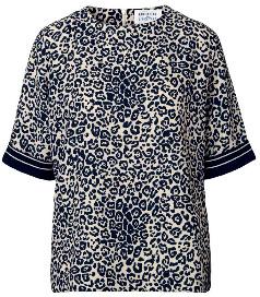 Libertine-Libertine Dark Navy Leopard Giant Top - S - Blue/White