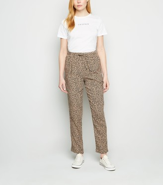 New Look Animal Print Joggers