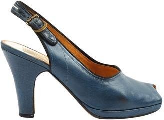 Maison Margiela Navy Leather Heels