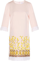 Andrew Gn Embroidered Short Sleeve Shift Dress