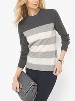 Michael Kors Striped Wool And Cashmere Sweater