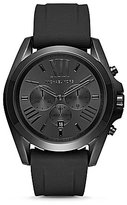 Michael Kors Bradshaw IP Chronograph Silicone-Strap Watch