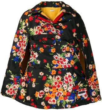 Miu Miu Panama floral-print cape