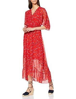 Yumi Women's Ditsy Floral Wrap Front Maxi Dress Cocktail,UK