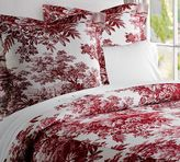 Pottery Barn Matine Toile Duvet Cover & Sham - Red