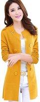 Partiss Spring Long Slim Fit Round Neckline Cardigan Jacket,Chinese M