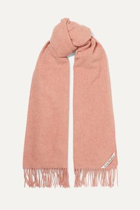 Acne Studios Fringed Melange Wool Scarf - Pink