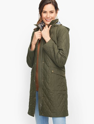 Talbots Long Quilted Coat