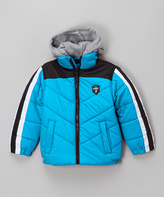 Hawke & Co Blue Wave Fleece Hooded Puffer Coat - Boys