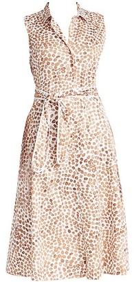 NIC+ZOE, Plus Size Copper Kiss Stretch-Cotton Shirtdress
