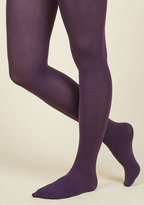 ModCloth Accent Your Ensemble Tights in Grape in S