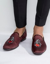 Asos Formal Loafers With Snake Embroidery and Jewel